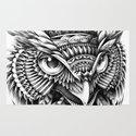 Ornate Owl Head Rug