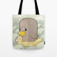 Chick Across the Sea Tote Bag