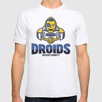 Desert County Droids Mens Fitted Tee Ash Grey SMALL