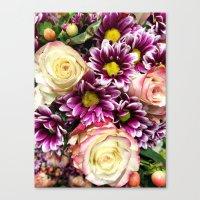 Flower Power Bouquet Canvas Print