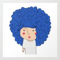Mss Blue Art Print