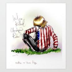 Brian Jones-Who killed  Christopher Robin? Art Print