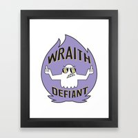 Wraith Defiant decal Framed Art Print