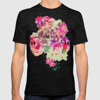 SUMMER LOVE Mens Fitted Tee Tri-Black SMALL