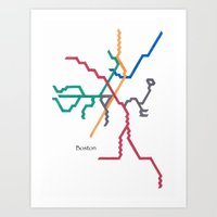 Boston Subway - The T Art Print