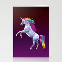 Geometric Unicorn Stationery Cards