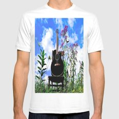 Music & Nature SMALL White Mens Fitted Tee