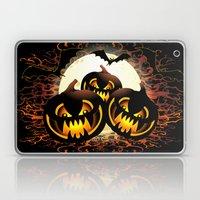 Black Pumpkins Halloween Night Laptop & iPad Skin