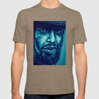 heron in blue Mens Fitted Tee Tri-Coffee SMALL
