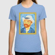 Selfie Van Gogh Womens Fitted Tee Tri-Blue SMALL