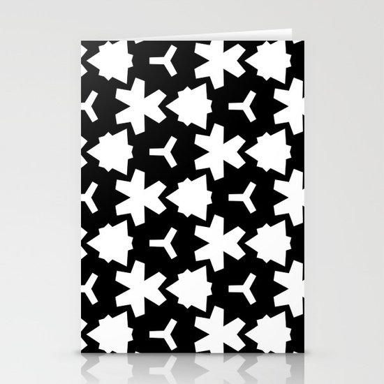 Weizigt Black & White Stationery Card