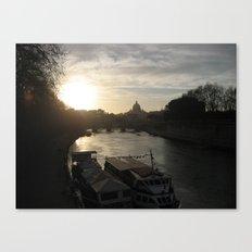 Tiber Dusk Canvas Print