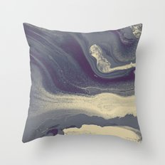 Marble Y Throw Pillow