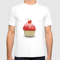 Muffin Mens Fitted Tee White SMALL