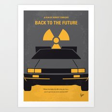 No183 My Back to the Future minimal movie poster Art Print