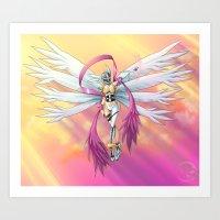 .:Guardian of Light:. Art Print