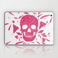 Girly Pink Glitter Abstract Skull Cool Photo Print Laptop & iPad Skin