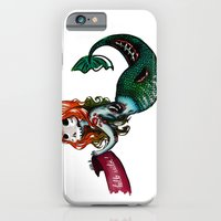 iPhone & iPod Case featuring Creature of the sea by Fla'Fla'