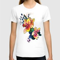 Inky Orchid Womens Fitted Tee White SMALL