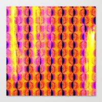 Colorful Half-Moon Stripe Pattern Canvas Print