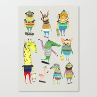 Skateboarders, Skaters, … Canvas Print