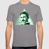 Tri-Tesla Mens Fitted Tee Tri-Grey SMALL