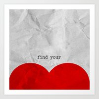 find your half (1 of 2 parts)  Art Print