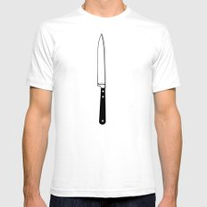 THE KNIFE SMALL White Mens Fitted Tee