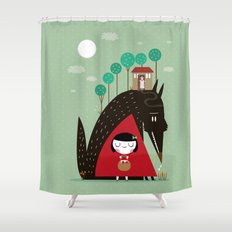 Story telling: little red Shower Curtain