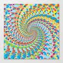 Colour Mix Spiral Canvas Print