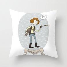 Star Wars fan-girl Throw Pillow