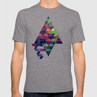 rybbyns Mens Fitted Tee Tri-Grey SMALL