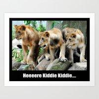 Here Kiddie Kiddie Poster Art Print