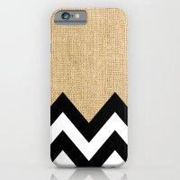 BURLAP BLOCK CHEVRON iPhone 6 Slim Case