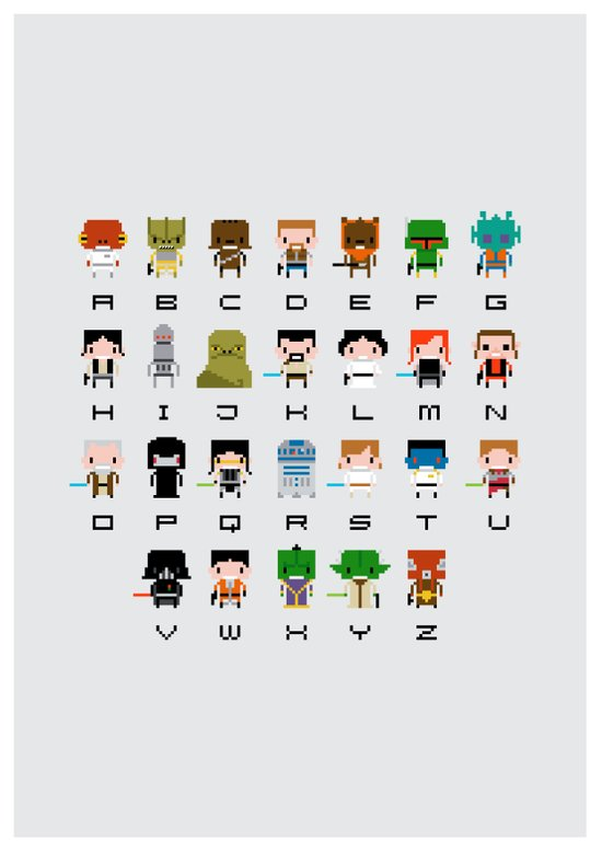 Star Wars Alphabet Art Print
