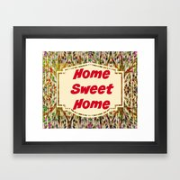 Stained Glass Home Sweet Home  Framed Art Print
