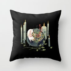 The Witch's Brew Throw Pillow