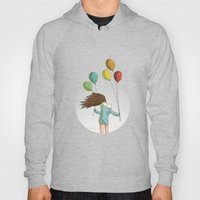 Baloons On Wind Hoody