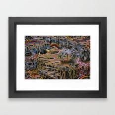 Rainbow ride Framed Art Print