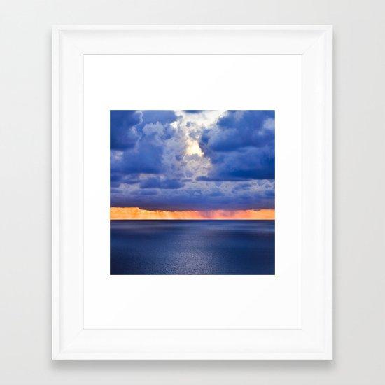 'tween sea and sky, after Rothko. Framed Art Print