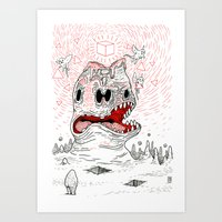Triangles Are Tasty Art Print