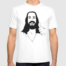 Jesus Ain't Mad At Ya Mens Fitted Tee White SMALL