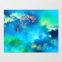 Cosmic Clouds In Blue Canvas Print