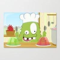 Monster BRAINY from Monster serie Canvas Print