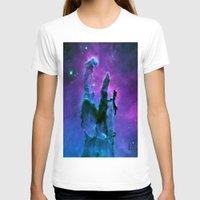 nebula T-shirts featuring Nebula Purple Blue Pink by 2sweet4words Designs