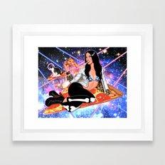 Cosmic Pizza Framed Art Print