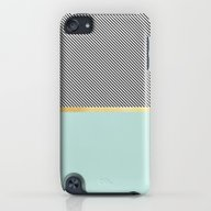 Aqua, Gold And Stripes iPod touch Slim Case