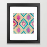 URBAN IKAT Framed Art Print