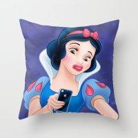 Snow White Duck Face Throw Pillow