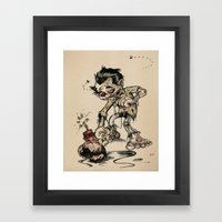 How To Trick A Zombie Framed Art Print